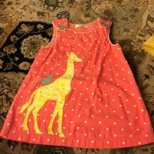Boden lined pinnie polka dot giraffe bird appliqué